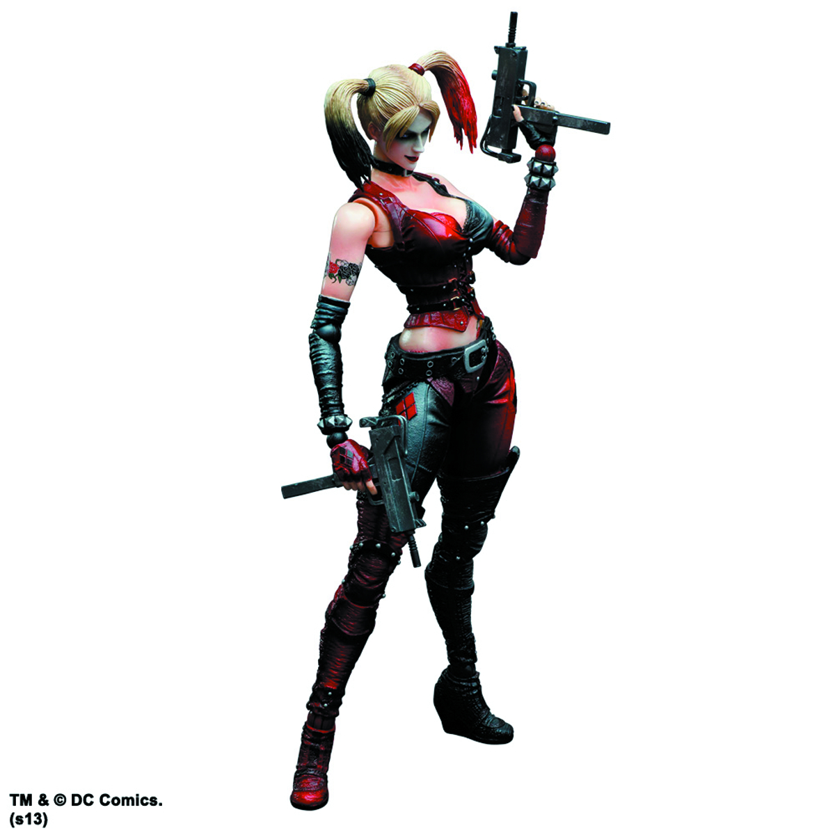 BATMAN ARKHAM CITY PLAY ARTS KAI HARLEY QUINN AF