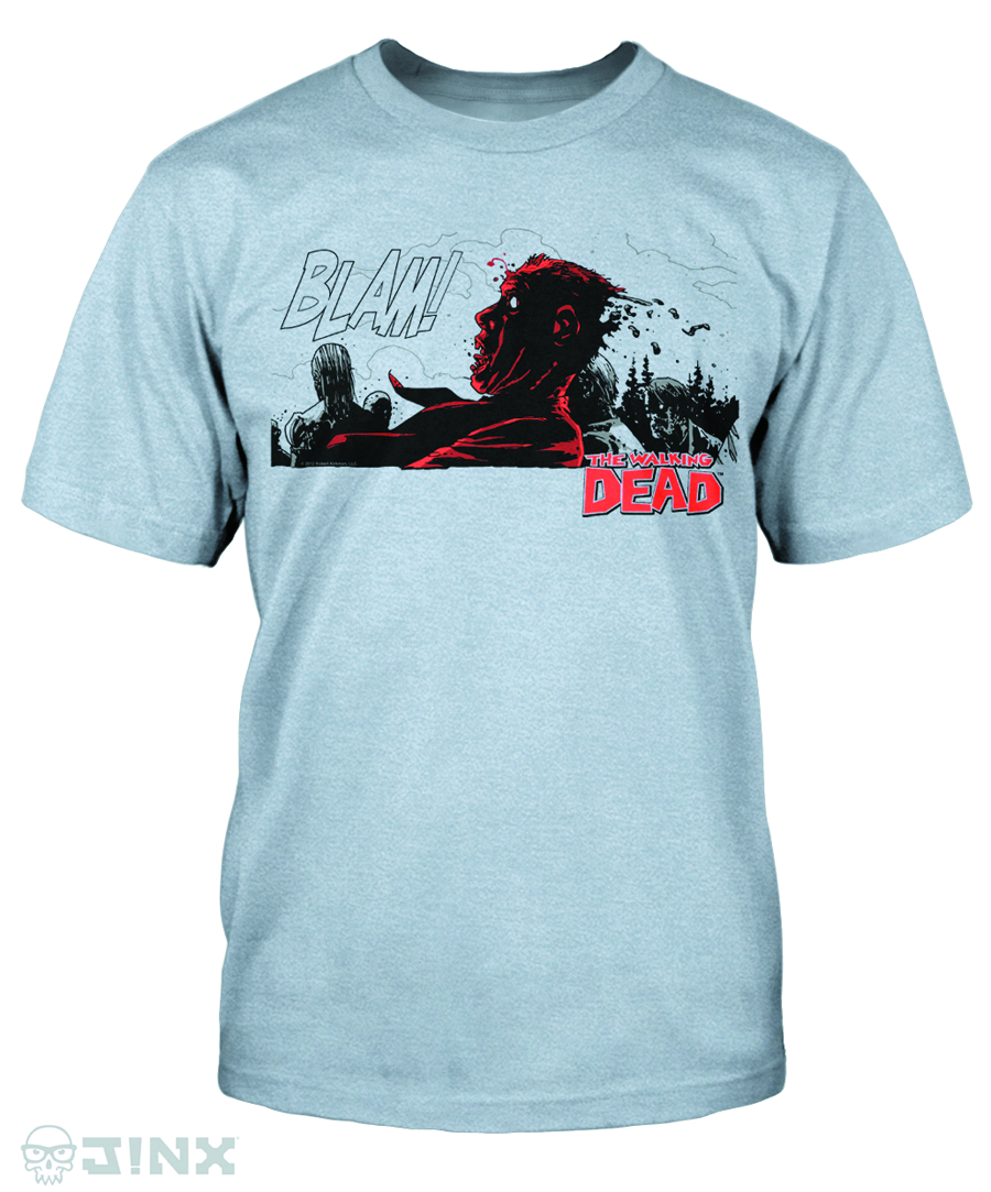 WALKING DEAD COMIC BLAM HEATHER T/S LG