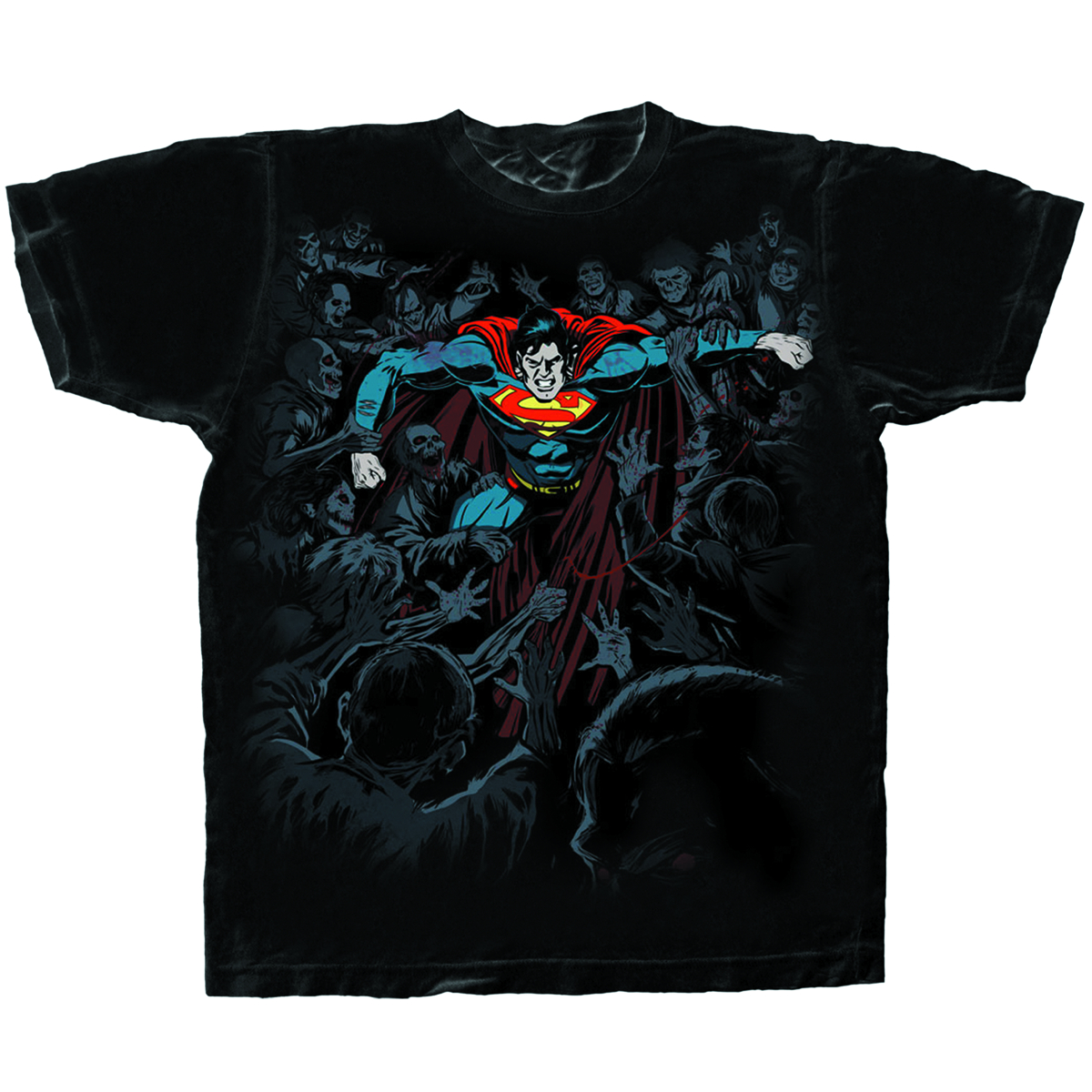 SUPERMAN DEFENSE BLK T/S XXL