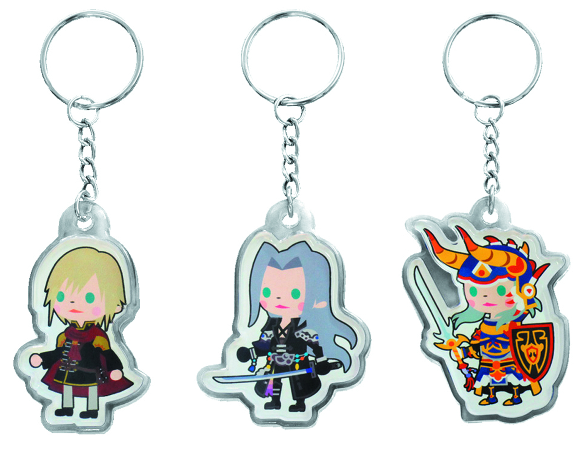 FF BRIGADE CHARACTER KEYCHAIN SEPHIROTH 12PC BAG