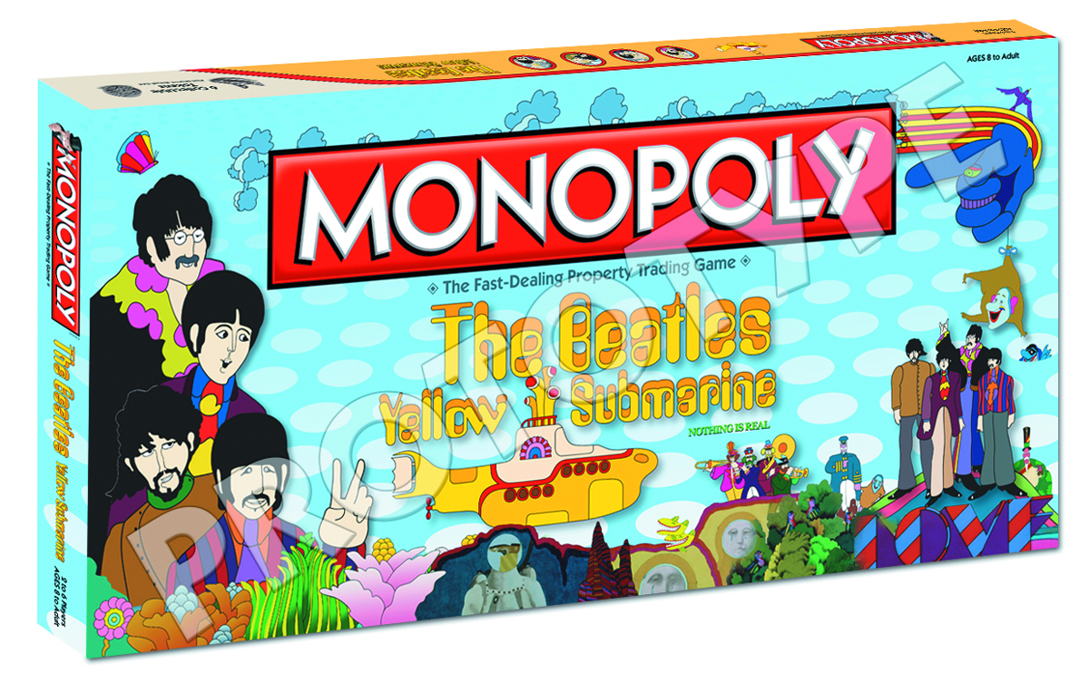BEATLES YELLOW SUBMARINE MONOPOLY