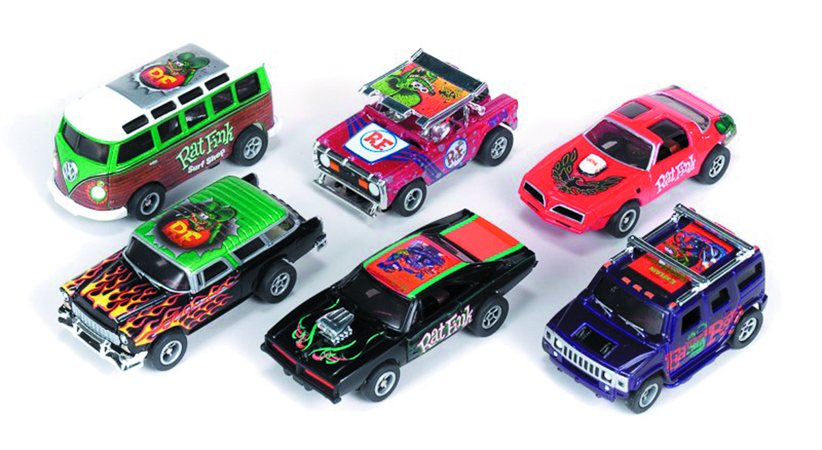 XTRACTION RAT FINK SLOT CAR 12PC ASST