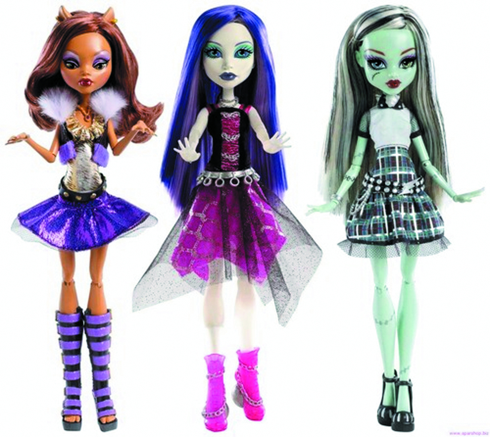 MONSTER HIGH GHOULS ALIVE DOLL ASST