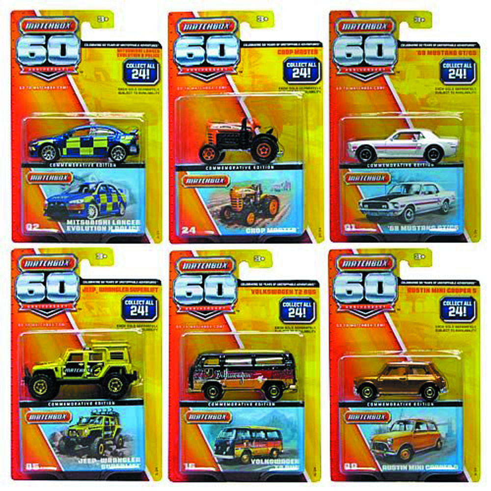 MATCHBOX 60TH ANN DIE-CAST ASST
