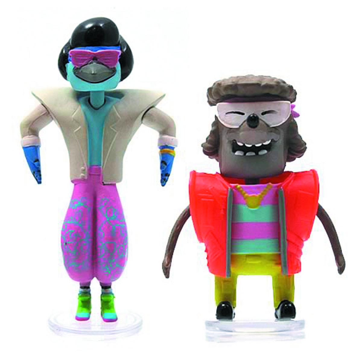 REGULAR SHOW 3IN 80S BOBBLEHEAD W/GLASSES ASST