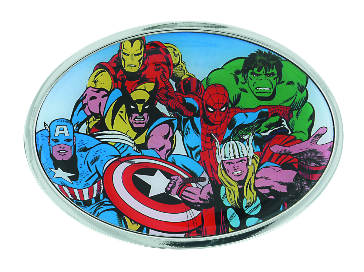 MARVEL HEROES COLLAGE BELT BUCKLE ROUND