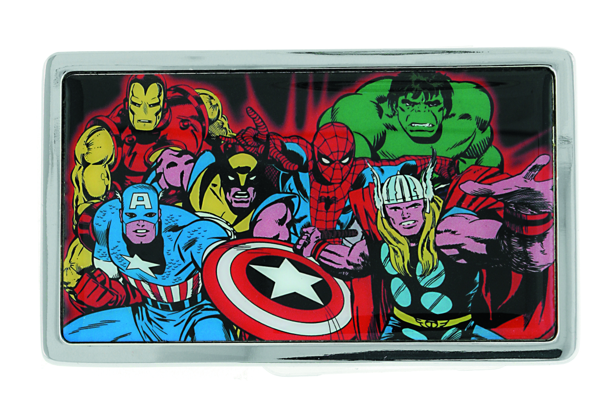 MARVEL HEROES COLLAGE BELT BUCKLE RECTANGULAR