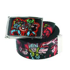 MARVEL HEROES COLLAGE GRAPHIC BELT