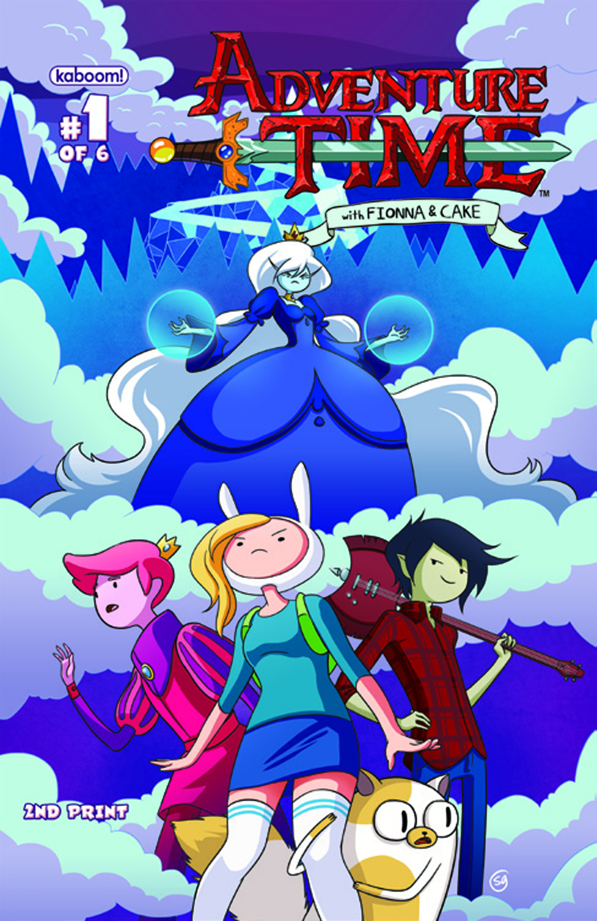 ADVENTURE TIME FIONNA & CAKE #1 (OF 6) 2ND PTG