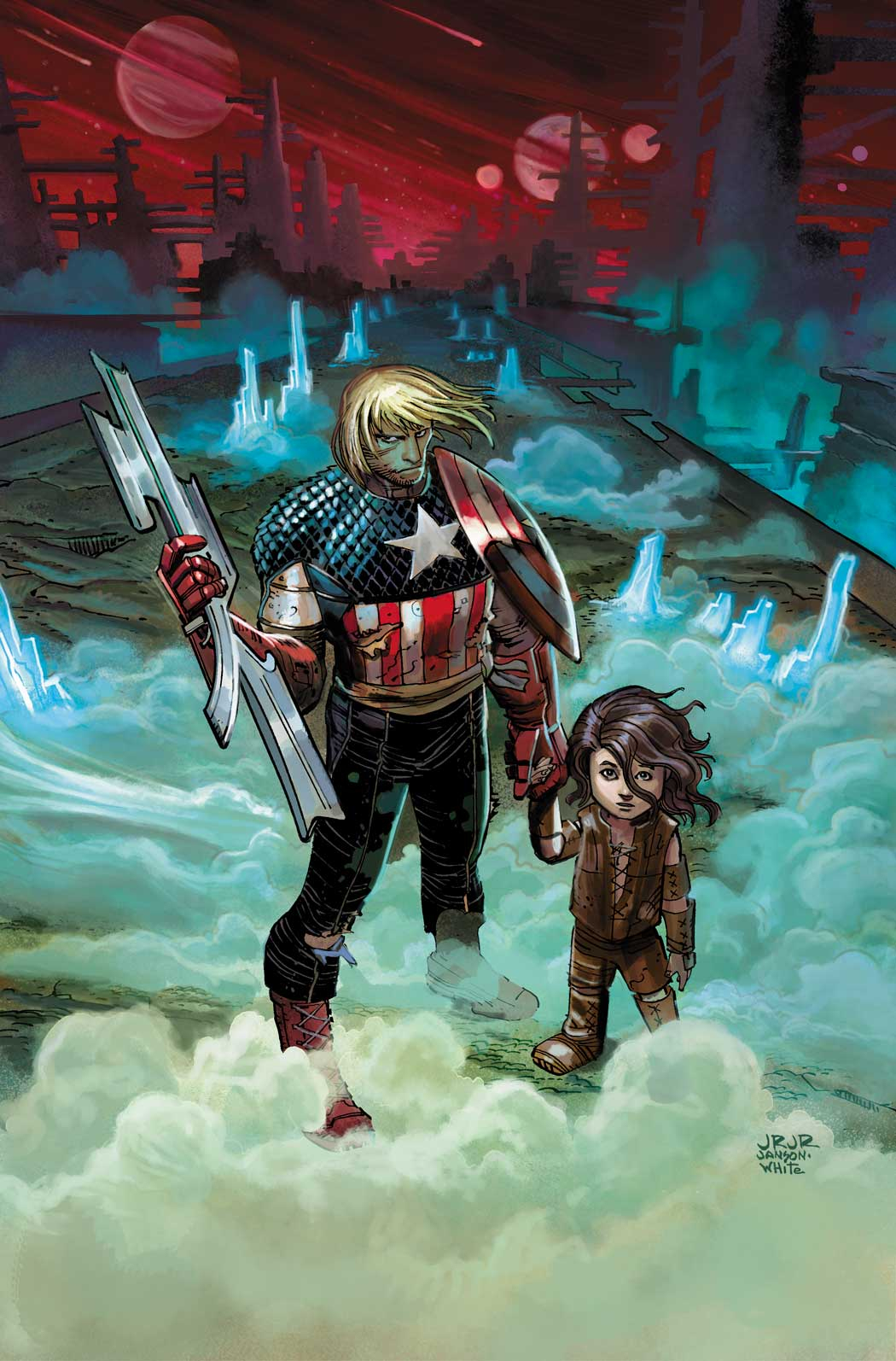 CAPTAIN AMERICA #2 2ND PTG JRJR VAR NOW