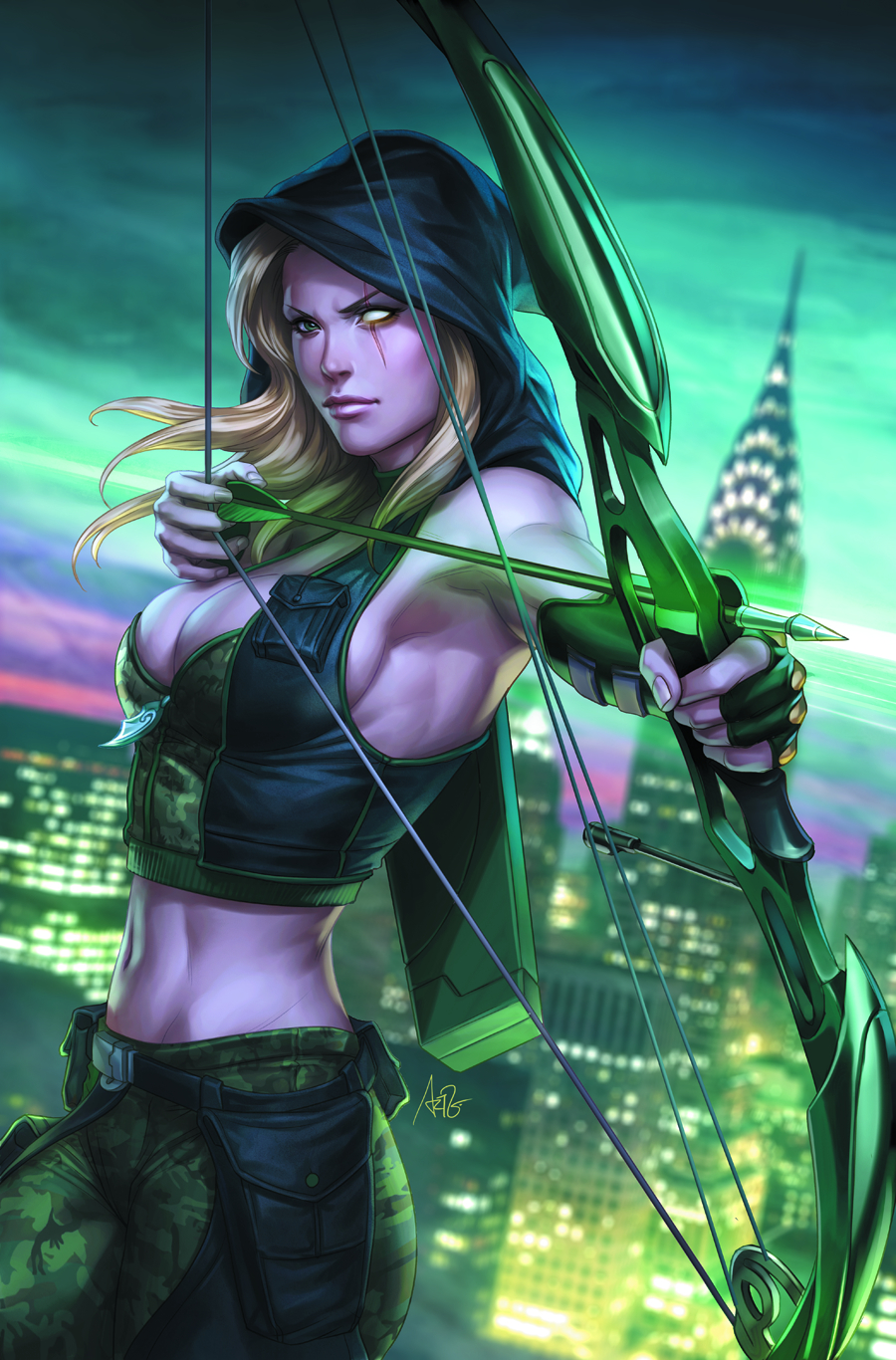 GFT ROBYN HOOD WANTED #1 (OF 5) A CVR ARTGERM