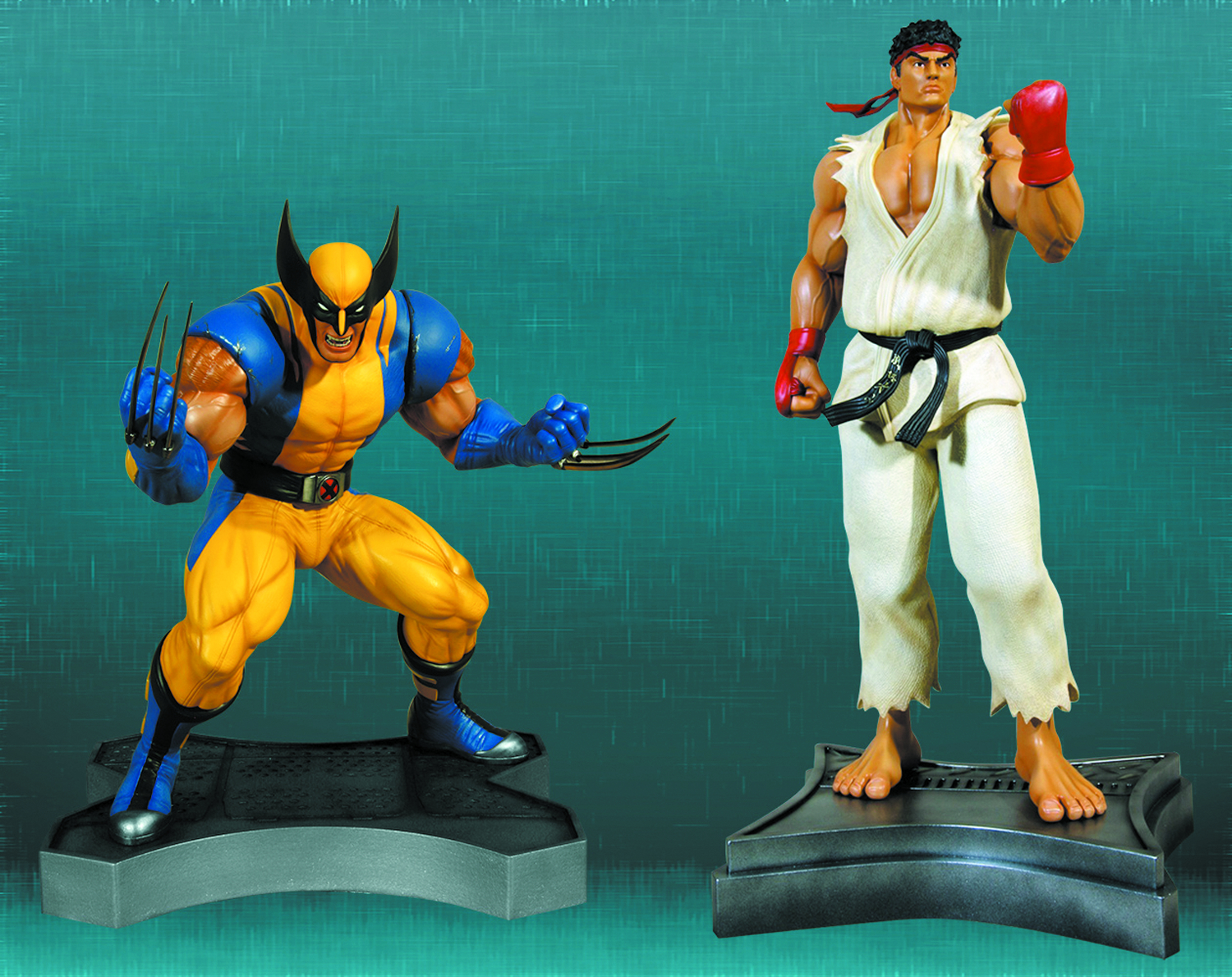 WOLVERINE VS RYU 1/3 SCALE STATUE SET