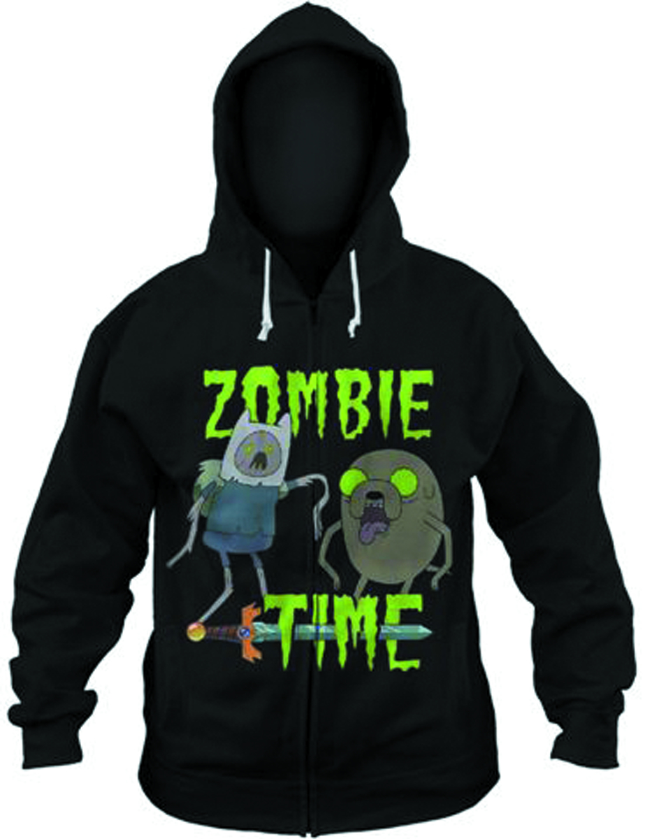 ADVENTURE TIME ZOMBIE TIME PX BLK HOODIE MED