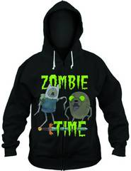 ADVENTURE TIME ZOMBIE TIME PX BLK HOODIE LG