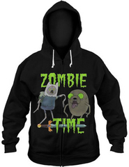 ADVENTURE TIME ZOMBIE TIME PX BLK HOODIE XXL