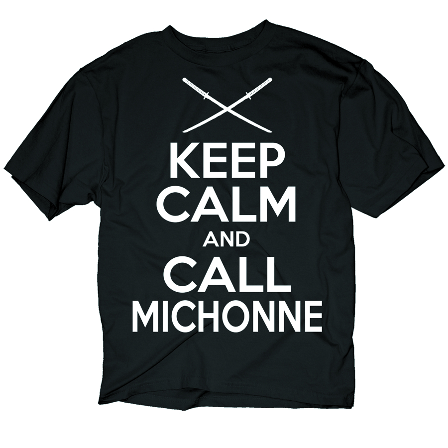 WALKING DEAD KC CALL MICHONNE PX BLK T/S MED