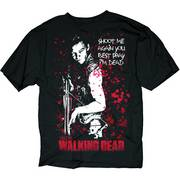WALKING DEAD PRAY IM DEAD BLK T/S SM