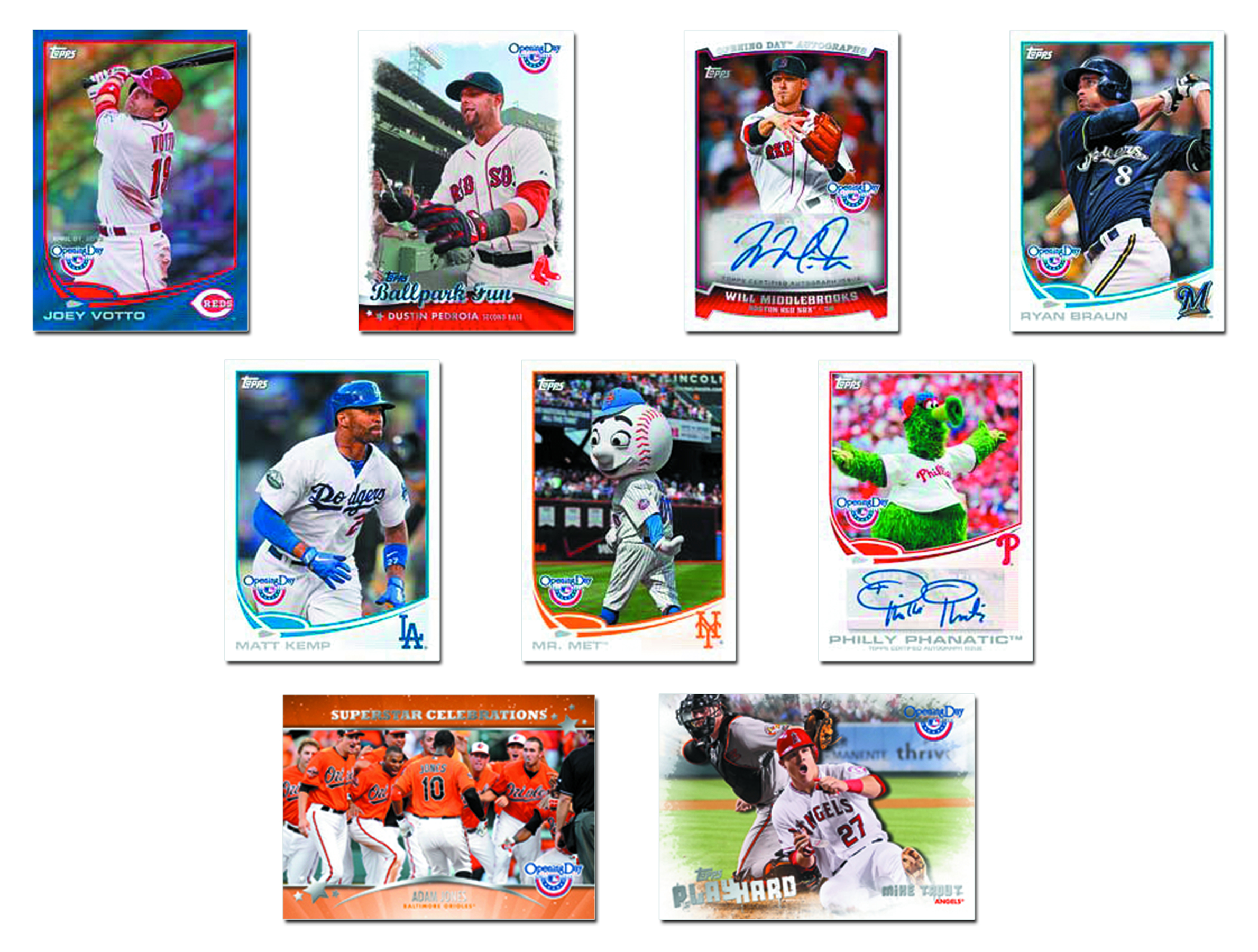 TOPPS 2013 OPENING DAY BASEBALL T/C BOX