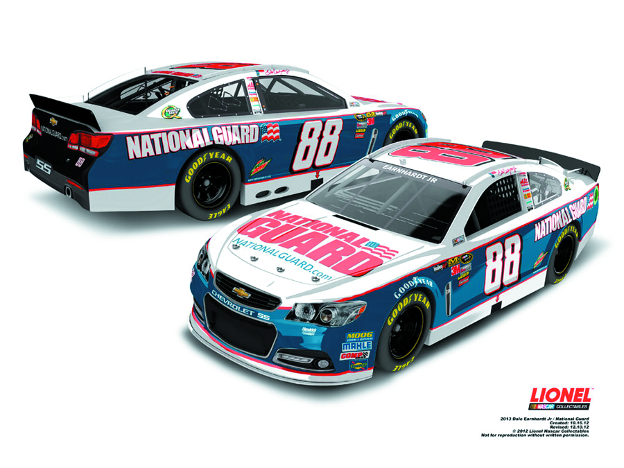 NASCAR EARNHARDT JR NAT GUARD CHEVY SS 1/24 DIE-CAST