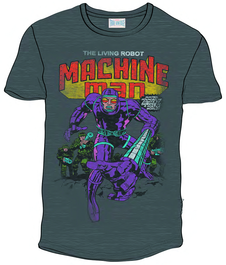 MACHINE MAN PX CHARCOAL T/S XL