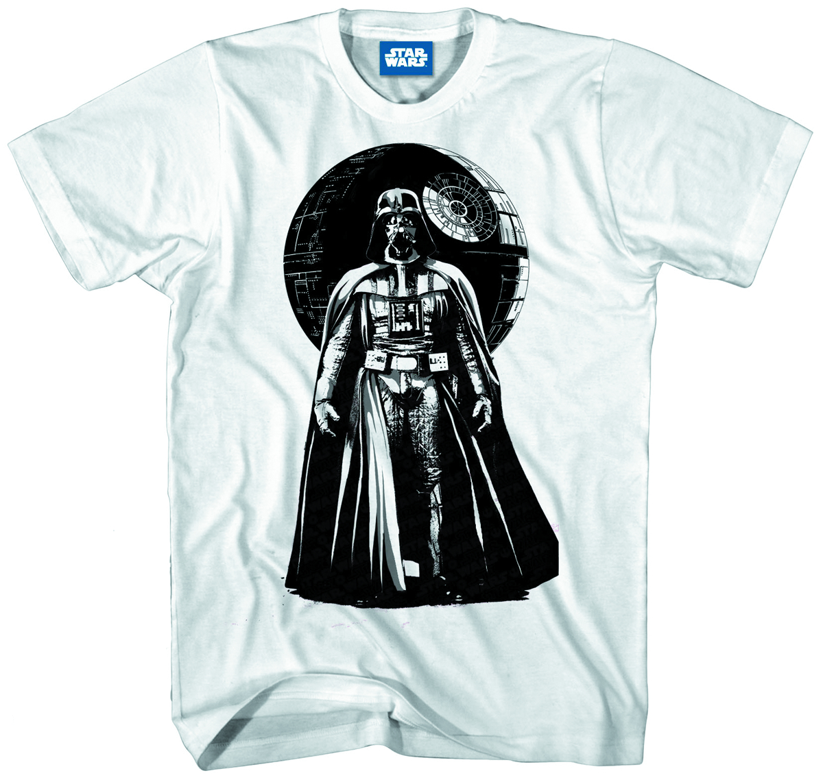 STAR WARS VADER WORLD PX WHT T/S MED