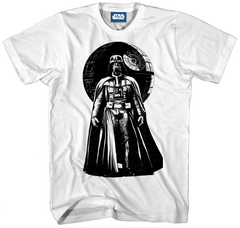 STAR WARS VADER WORLD PX WHT T/S LG