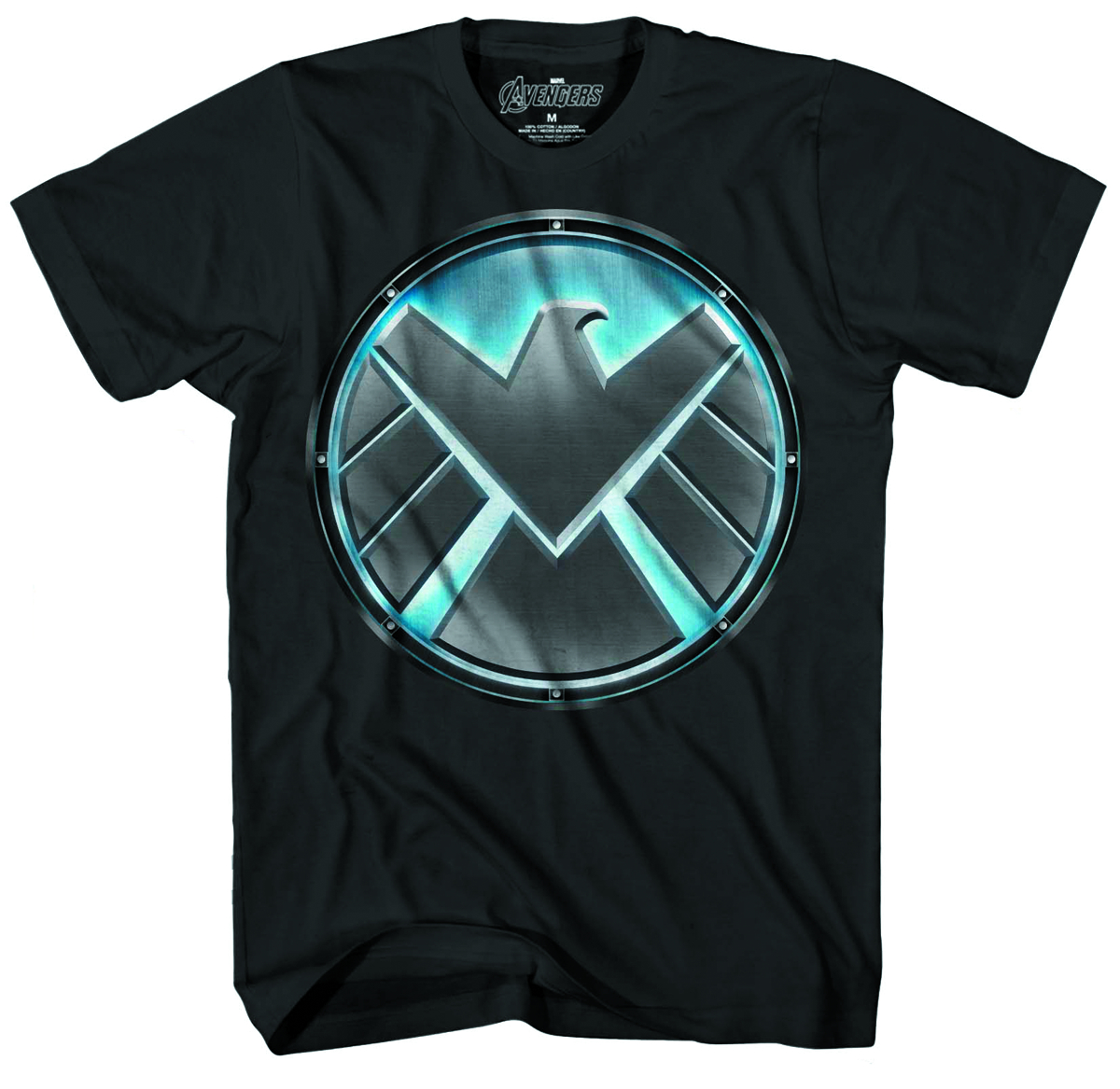 SHIELD PIT LOGO PX GLOW IN DARK BLK T/S MED