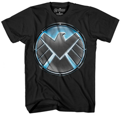 SHIELD PIT LOGO PX GLOW IN DARK BLK T/S XL