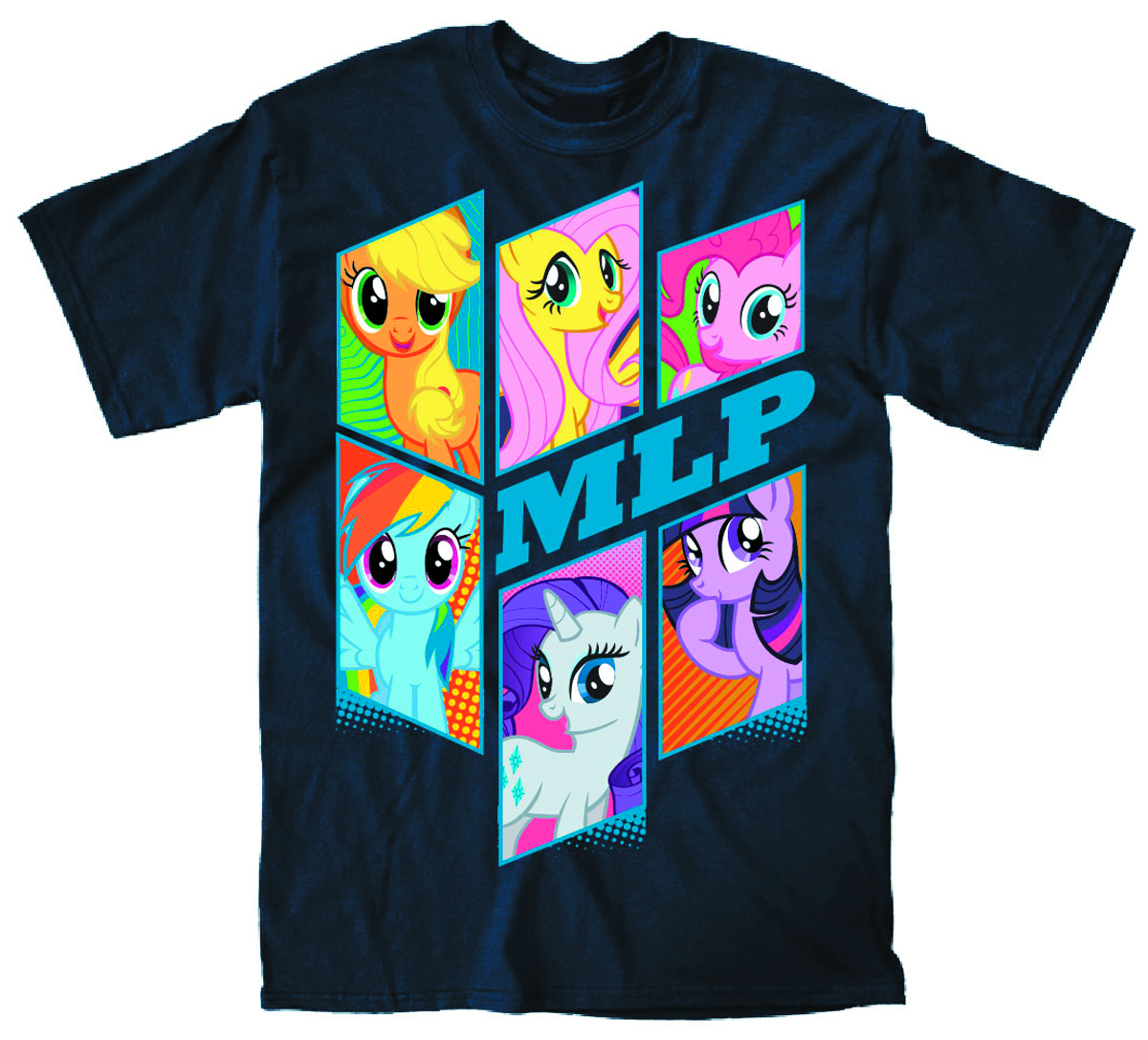 MY LITTLE PONY BRONY BUNCH PX NAVY T/S MED