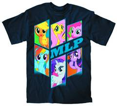MY LITTLE PONY BRONY BUNCH PX NAVY T/S XL