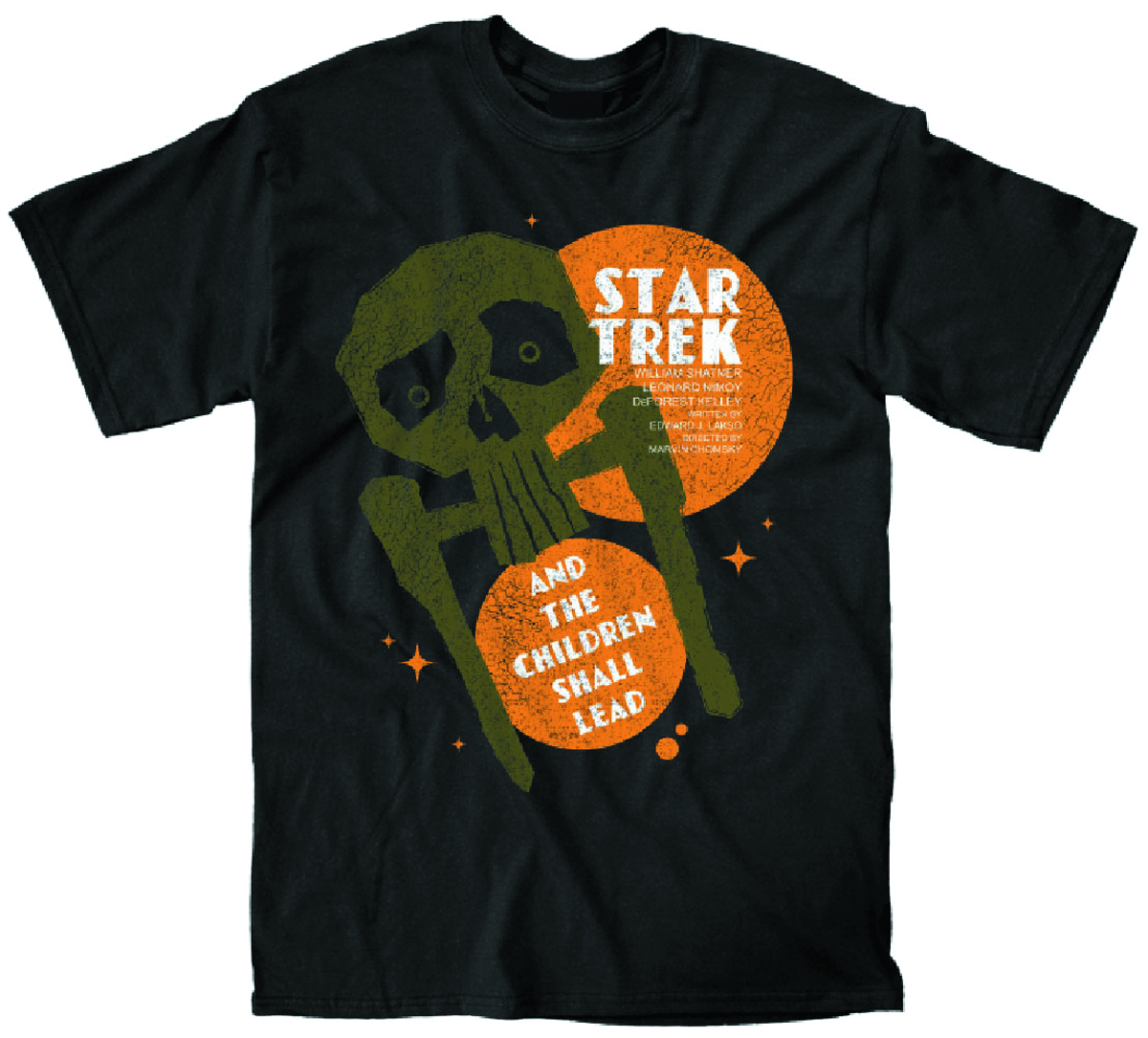 STAR TREK CHILDREN SHALL LEAD PX BLK T/S MED