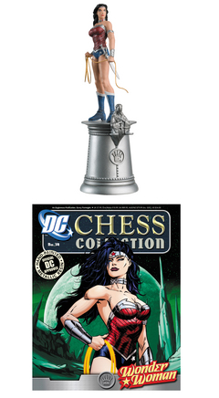 DC SUPERHERO CHESS FIG COLL MAG #34 WONDER WOMAN WHITE QUEEN