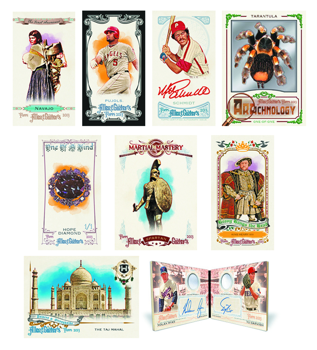 TOPPS 2013 ALLEN & GINTER BASEBALL T/C BOX