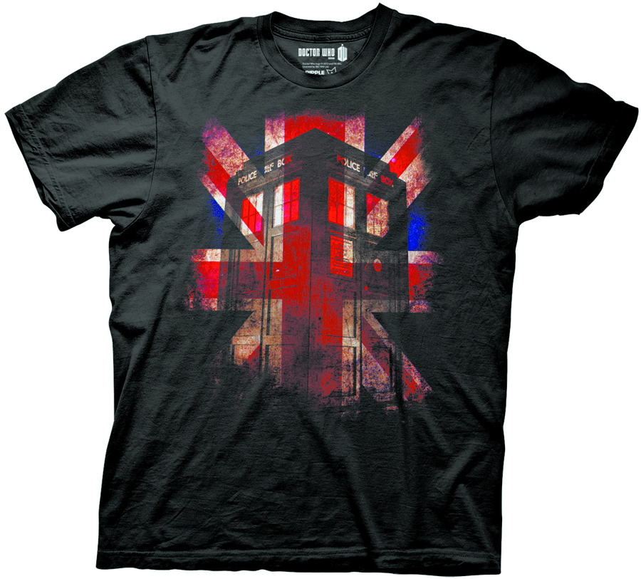 DOCTOR WHO UNION JACK TARDIS T/S MED