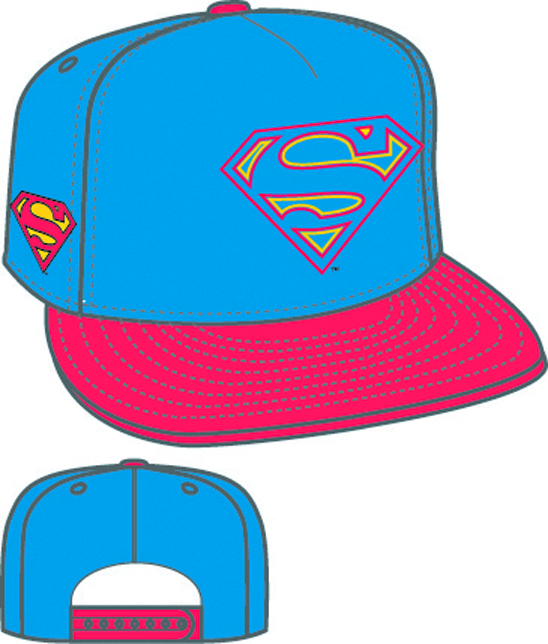 HERO NEON SIGN SUPERMAN SYMBOL SNAPBACK CAP