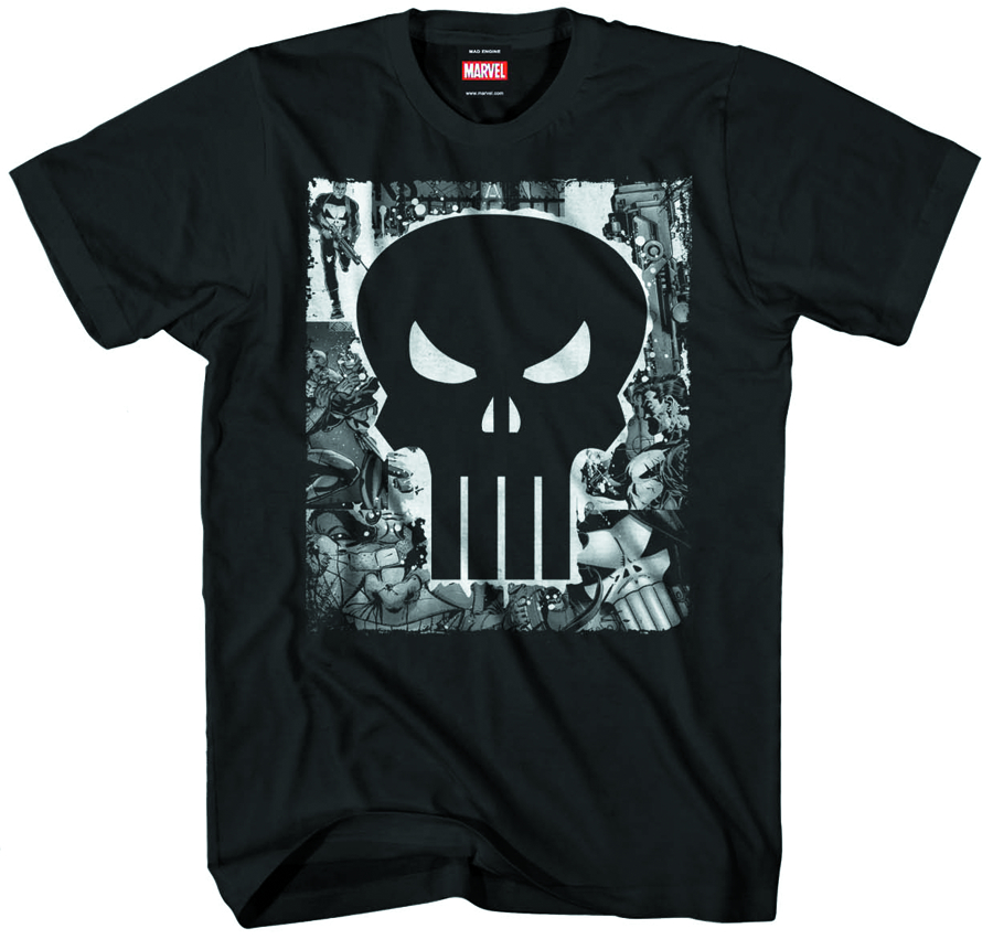 PUNISHER BOOGIE SKULL BLK T/S MED