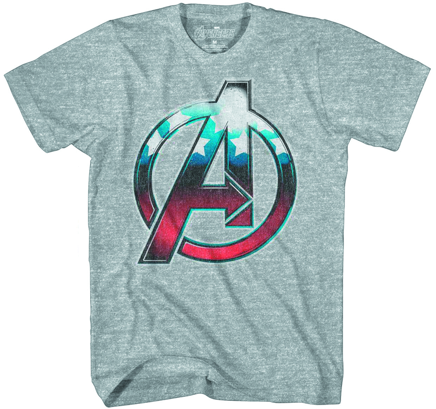 AVENGERS STRESS CAP HEATHER T/S LG