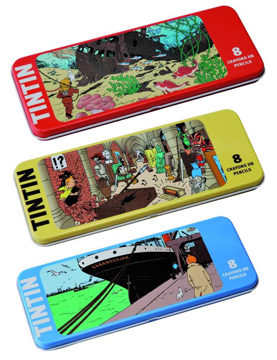 TINTIN BOAT KARABOUTJAN 8PC PENCIL SET