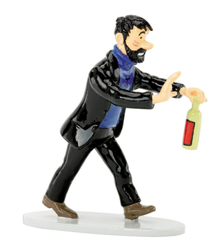 TINTIN HADDOCK WITH BOTTLE LEAD FIGURINE