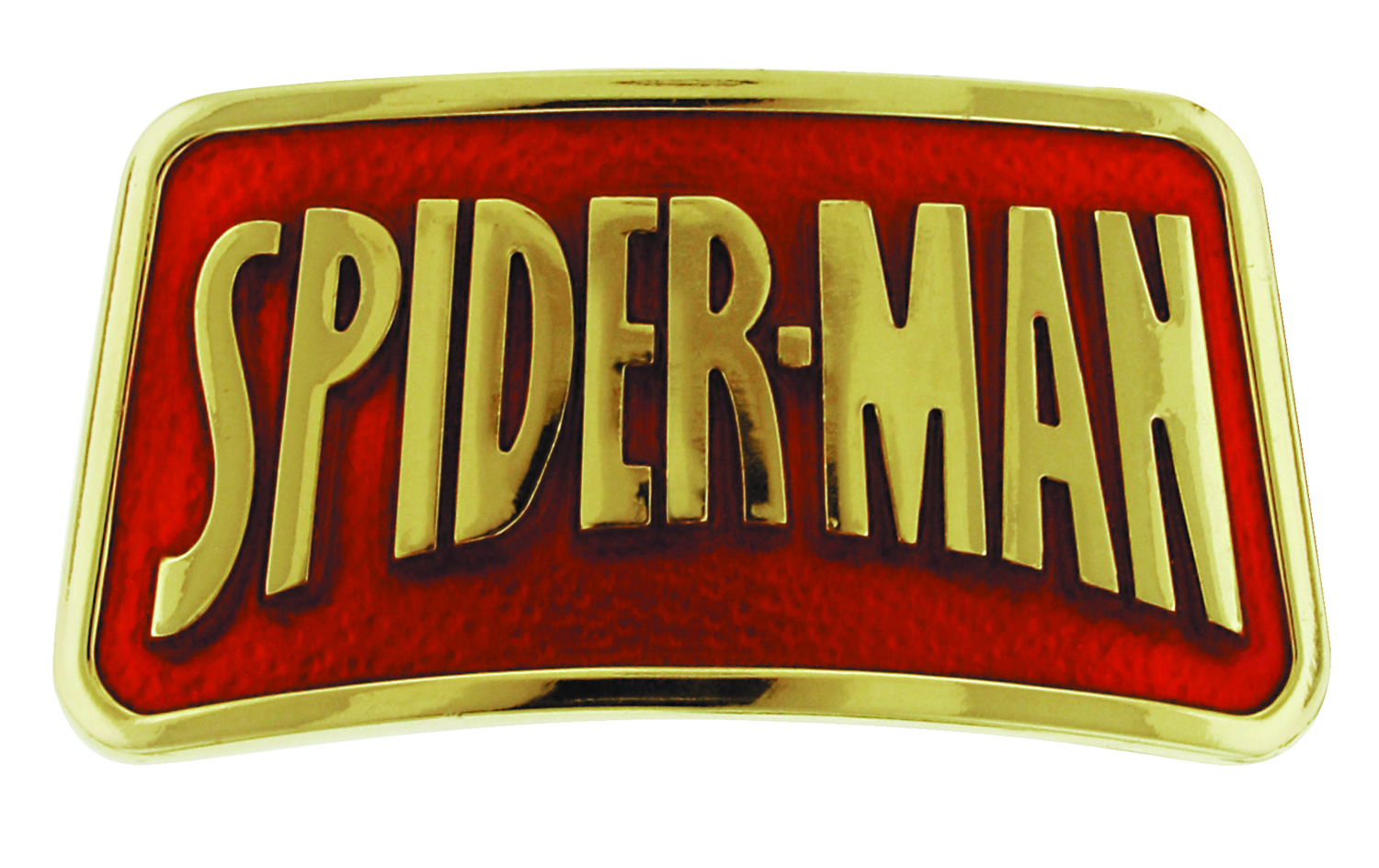 SPIDER-MAN LOGO BELT BUCKLE GOLD