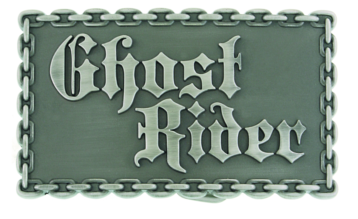 GHOST RIDER LOGO BELT BUCKLE RECTANGULAR