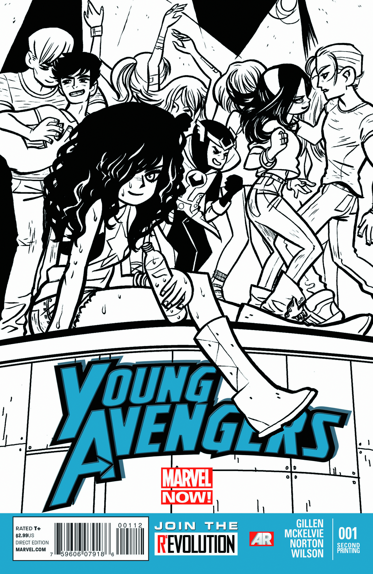 YOUNG AVENGERS #1 2ND PTG OMALLEY SKETCH VAR NOW
