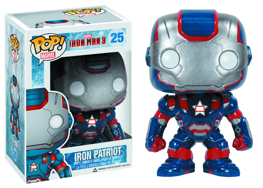 POP IRON MAN 3 IRON PATRIOT VINYL FIG