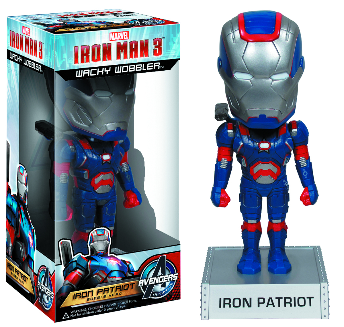 IRON MAN 3 IRON PATRIOT WACKY WOBBLER