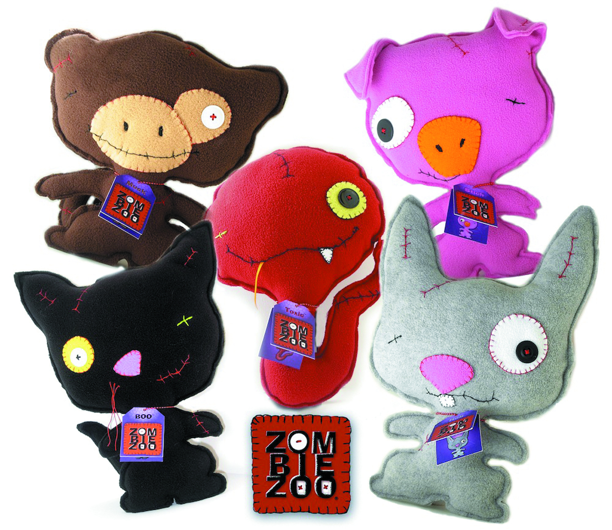 ZOMBIE ZOO 13IN TOXIC CLASSIC PLUSH