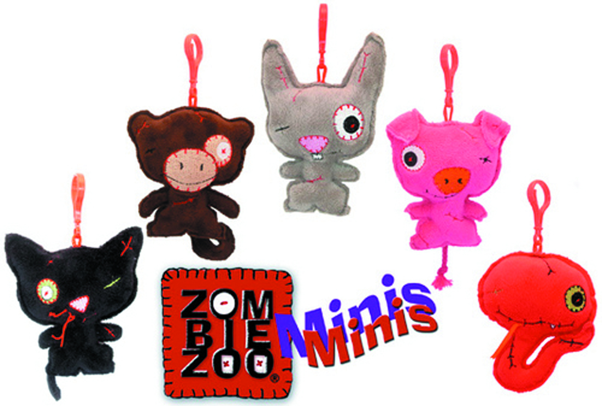ZOMBIE ZOO 4IN ROB MINI PLUSH