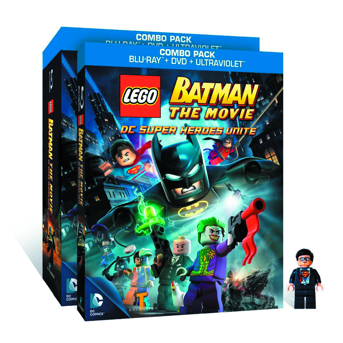 LEGO BATMAN THE MOVIE BD + DVD + MINIFIG