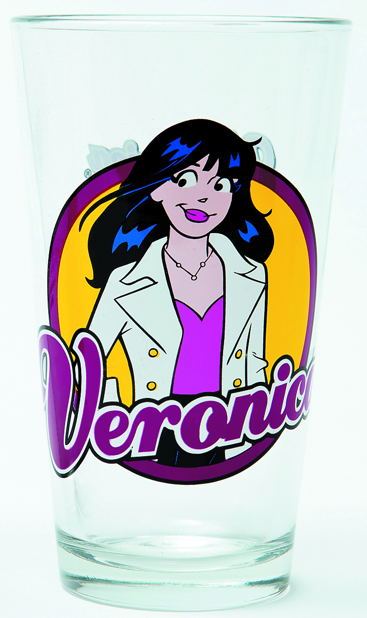 TOON TUMBLERS ARCHIE VERONICA LODGE CLEAR PINT GLASS