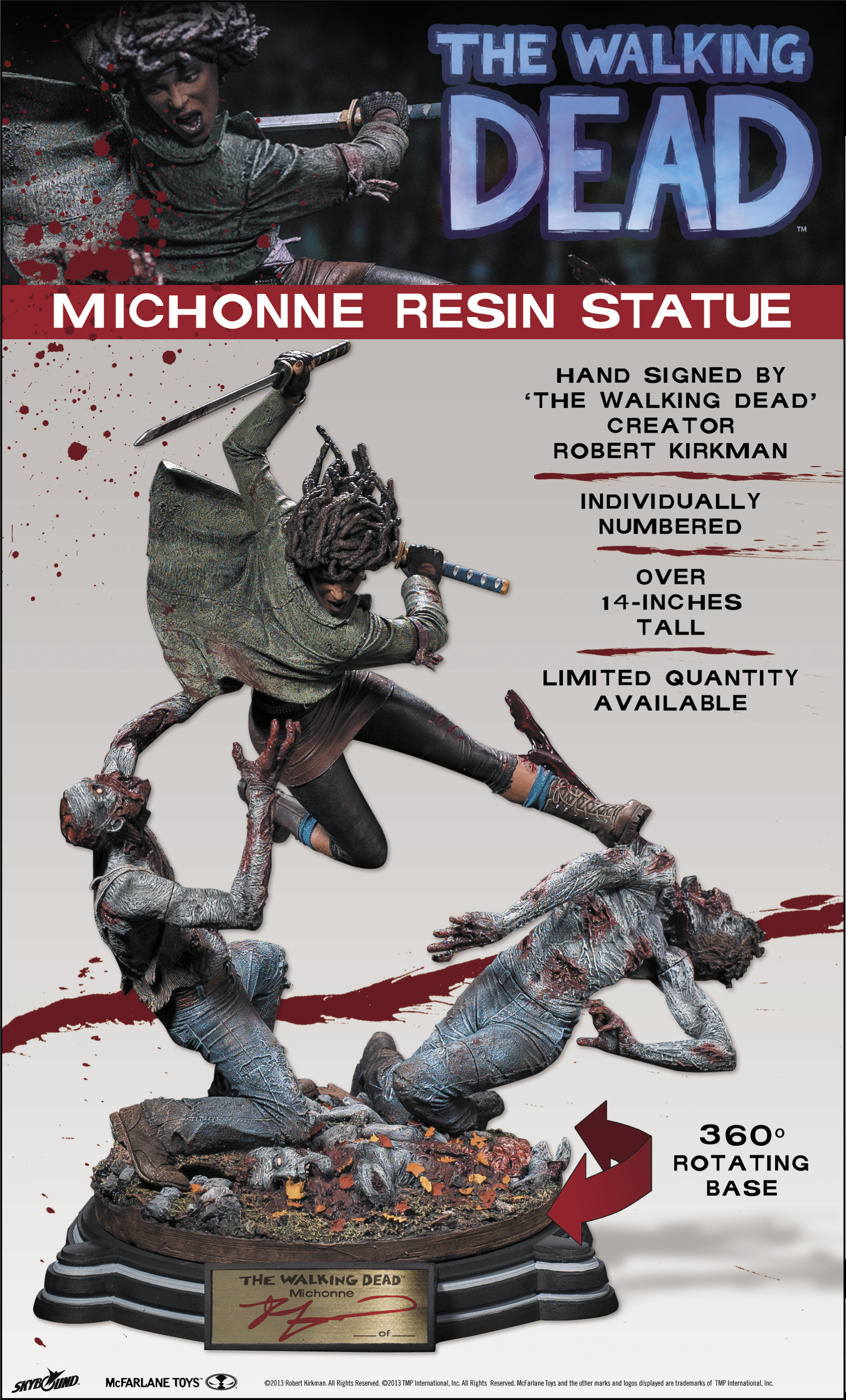 WALKING DEAD MICHONNE RESIN STATUE