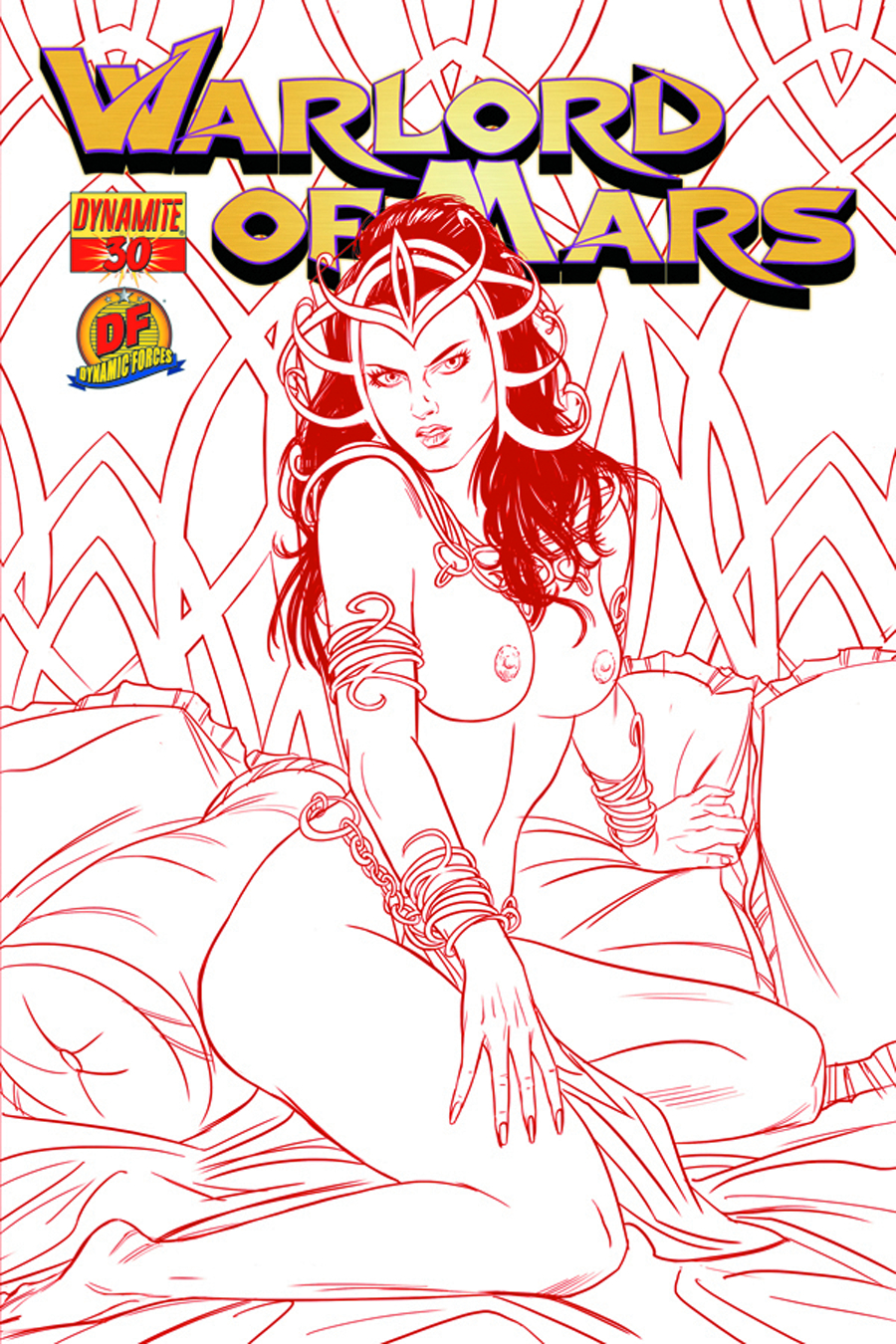DF WARLORD OF MARS #30 RISQUE CVR